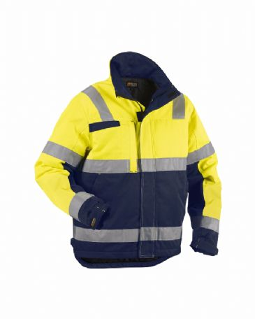 Blaklader 4862 Winter Jacket (Yellow/Navy Blue)